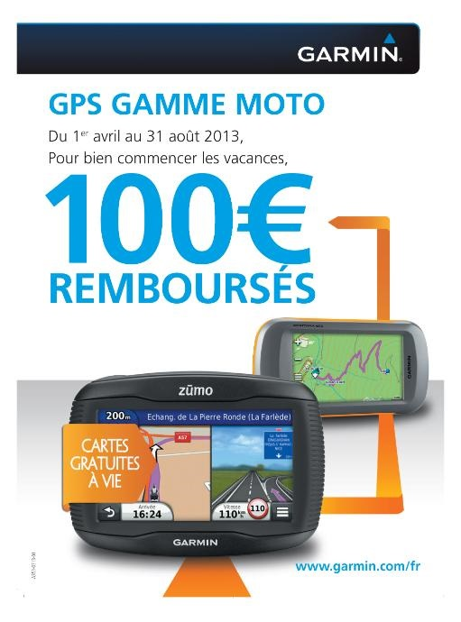 100 euros remboursés chez Garmin