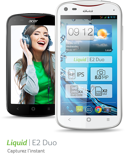 nouveau smartphone Acer Liquid E2