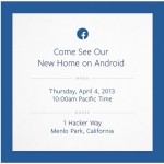 Pr�sentation du nouveau FaceBook Phone le 4 Avril?