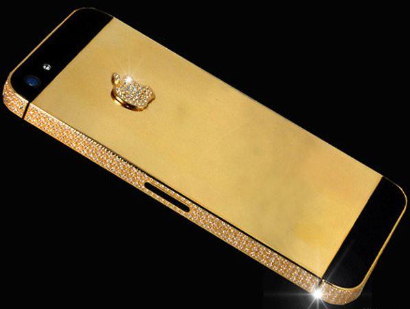 iPhone 5 en Or 24 carats et diamants
