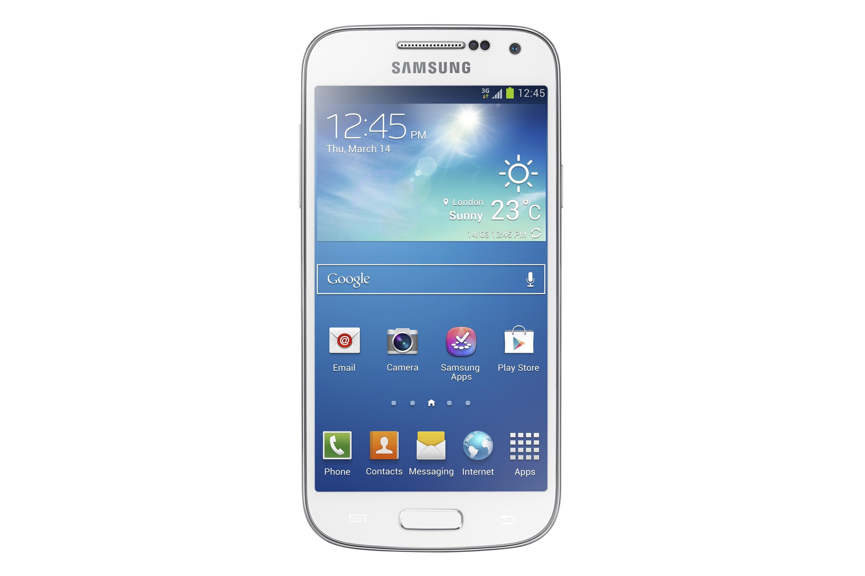 Samsung Galaxy S4 Mini version Blanc de face