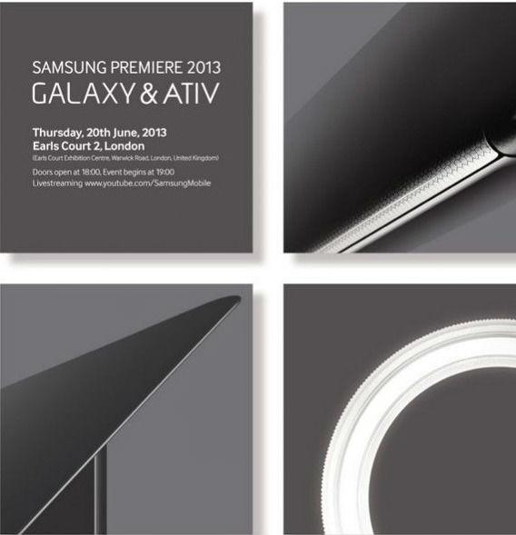 Carton d'invitation conférence de presse Samsung Galaxy et Ativ