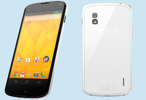 LG Nexus 4 disponible en blanc