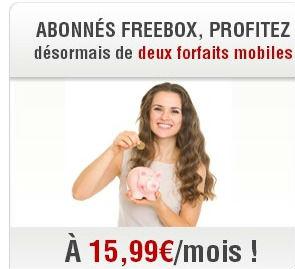 Free Mobile permet de commander 2 lignes mobiles à 15,99 euros par mois