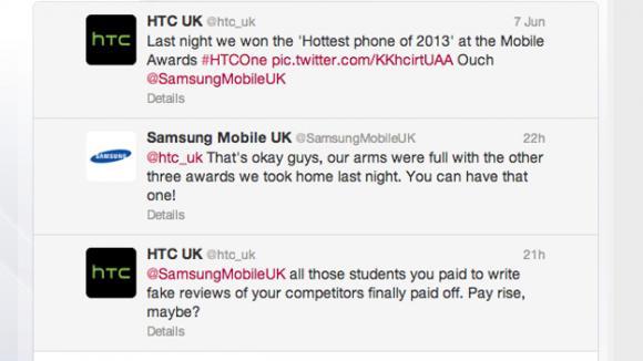 HTC et Samsung prennent Twitter pour une cour de récréation?