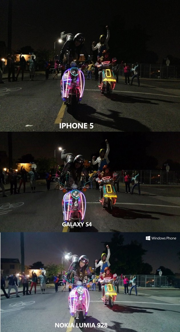 comparatif qualité de photo entre un iPhone 5, un Galaxy S4 et un Nokia Lumia 928