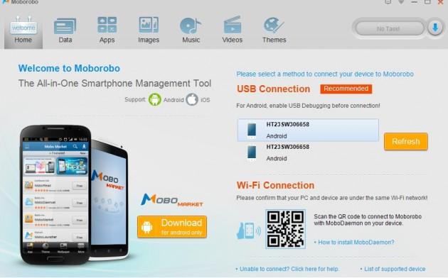 Moborobo avec 2 HTC One X