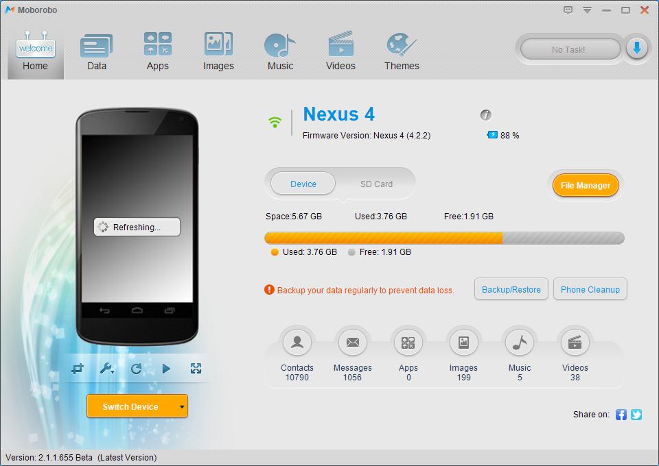 Moborobo avec 1 Nexus 4