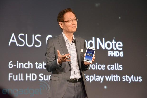 Le CEO Asus présente la phablet Fonepad Note