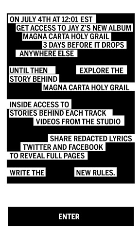 application Magna Carta de Jay Z.