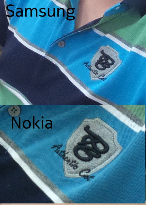 photo comparative Nokia Samsung