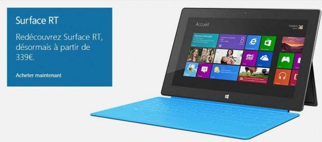 prix réduit sur les tablettes Microsoft Surface RT