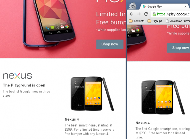 """Le Nexus 4 appelé désormais """"Premier smartphone Google"""""""
