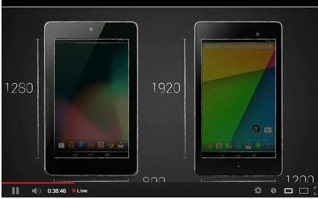 Nexus 7 deux générations
