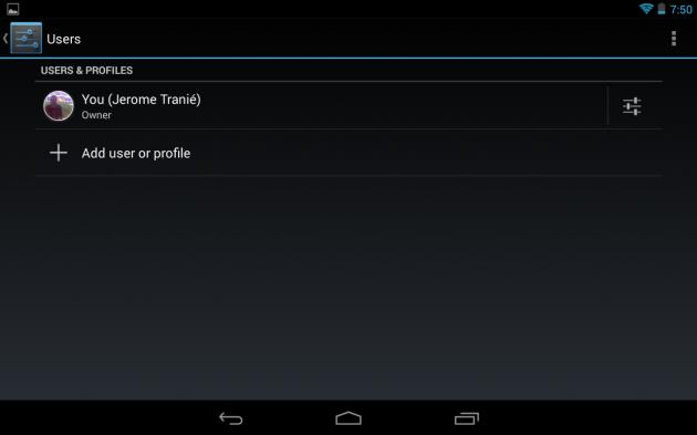 Ajouter un profil restreint sur une tablette Android