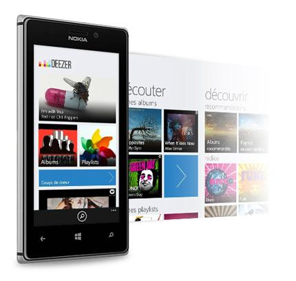 deezer pour Windows Phone 8