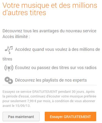 Google Play Music avec streaming illimité désormais disponible en France