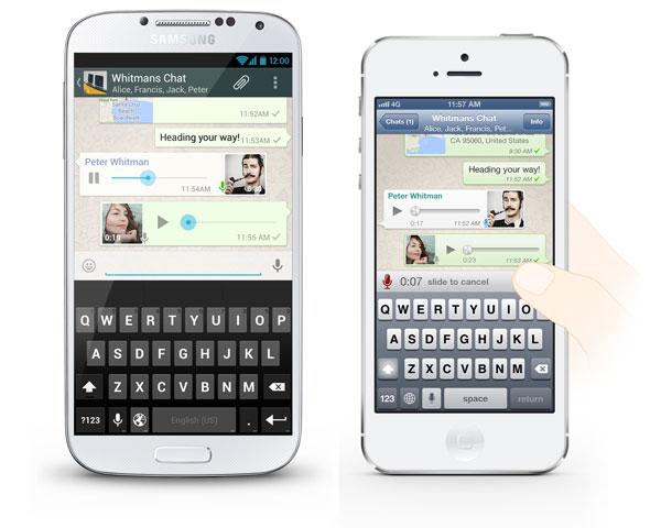 WhatsApp transforme votre smartphone en Talkie Walkie