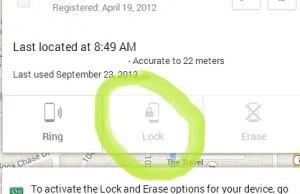 Android device manager permet de verrouiller à distance