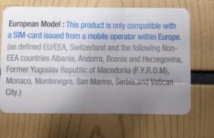 Le Galaxy Note 3 vendu en Europe compatible uniquement avec les cartes SIM Européennes