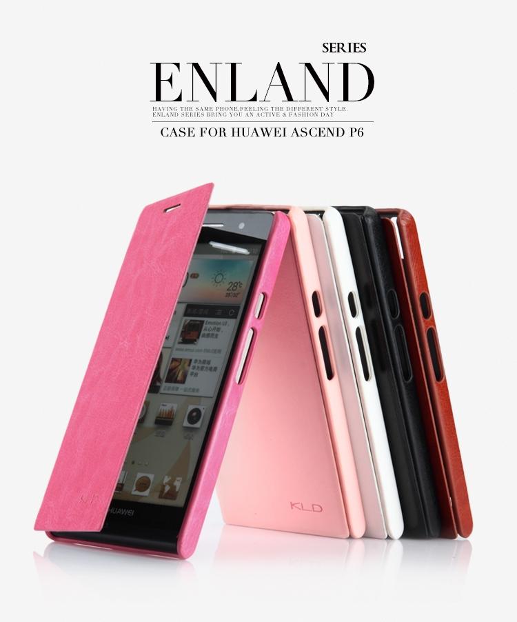 Etui Cuir LKD England Series avec Clapet pour Huawei Ascend P6