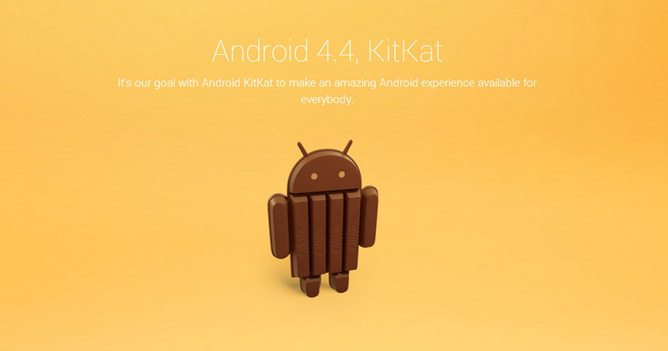 Android 4.4 s'appelle KitKat
