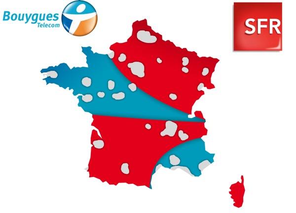 Bouygues Telecom et SFR