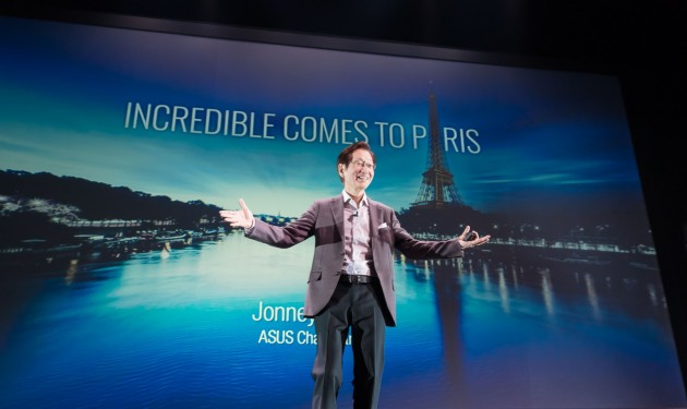 ASUS Jonney Shih opens the stage at the Incredible Comes to Paris press event
