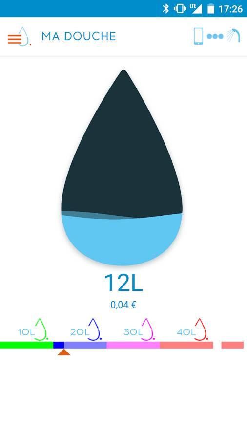 Hydrao first le pommeau de douche connect pour conomiser l 39 eau wea - Consommation d une douche ...