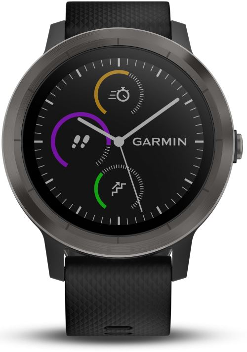 montre connectee de sport garmin vivoactive 3 avec gps et cardio poignet grise avec bracelet. Black Bedroom Furniture Sets. Home Design Ideas