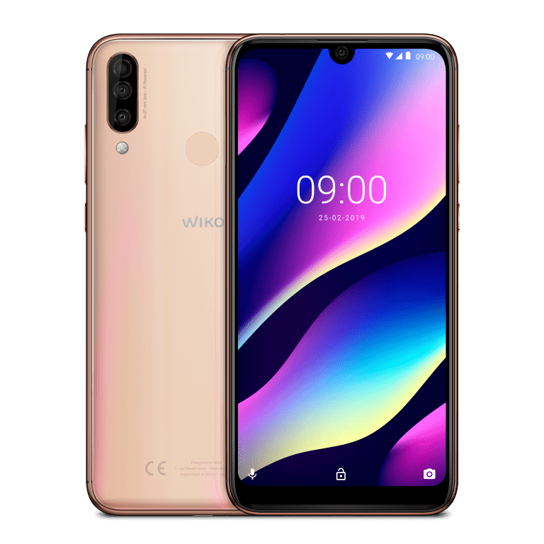 Wiko_MWC2019_View-3_Blush-Gold_Compo_HD