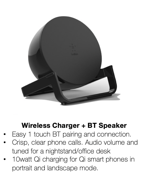 FPOBoostCharge Wireless Charging Stand + Speaker