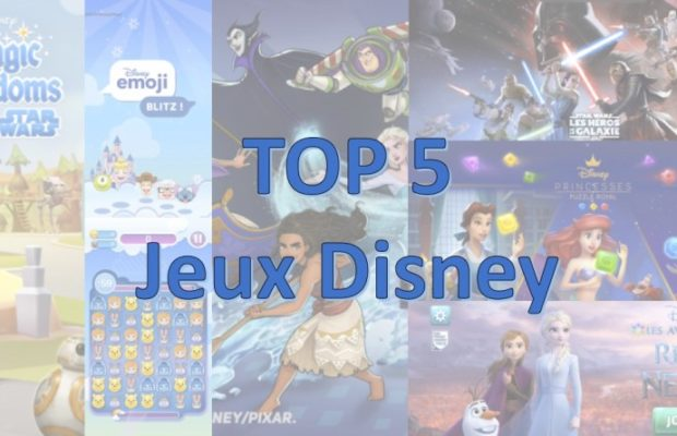 top 5 jeux disney